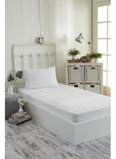 Decovilla  200x200 Pamuklu Fitted Sıvı Geçirmez Alez Beyaz